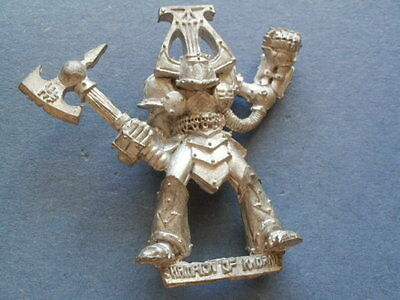Citadel 80s Oldhammer Realm of Chaos Khorne Warrior Champion Metal Figure