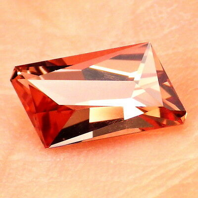 COPPER RED-ORANGE OREGON SUNSTONE 1.30Ct FLAWLESS-FOR JEWELRY-SMALL-VIDEO
