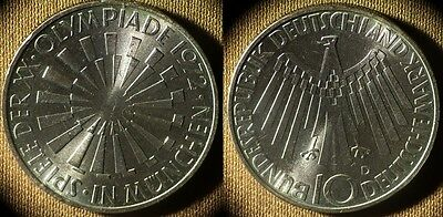 Germany Fed Rep : 1972D 10 Mk  BU Beautiful  # 134.1  IR4050