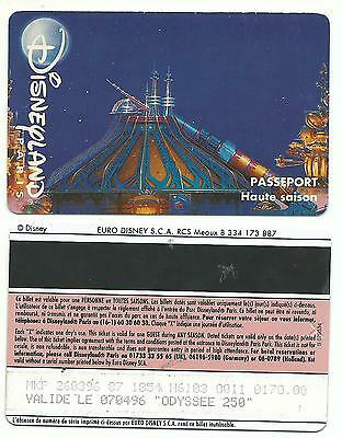 passeport Euro Disney Disneyland Space Mountain adulte 1 verso SPEOS s079534 TTB