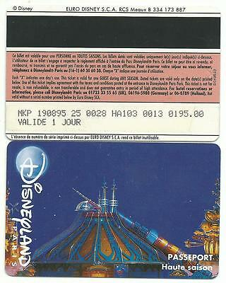 passeport Euro Disney Disneyland Space Mountain adulte 1 verso SPEOS s049530 TTB