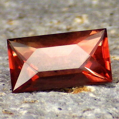 COPPER RED-ORANGE OREGON SUNSTONE 1.20Ct FLAWLESS-SMALL-FOR TOP JEWELRY!