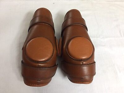 Polo/Ridding Knee Guards Leather For Kids-8 To-16 Year Age Ladies Size