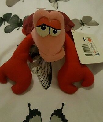 """Sebastian From The Little Mermaid 9"""" Plush With Tags"""