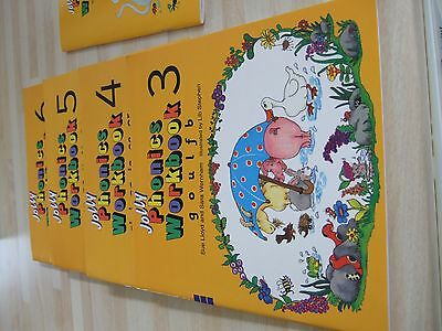 Jolly Phonics Workbook 3-7 + Word Book (6 books)