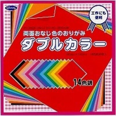 JAPANESE ORIGAMI PAPER Showa Grim 36 sheets 14 colours 15x15cm Double Sided