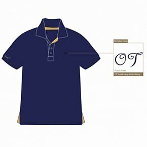 Townend Brucester Polo Shirt - Navy/Gold - Large - Horse Equestrian Shirts