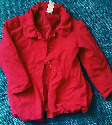 evie angel girl red maroon autumn spring parka jacket coat 4-5 years