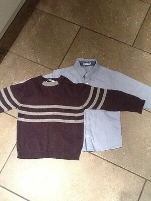 Boys 3Pommes  jumper and shirt age 4 Years