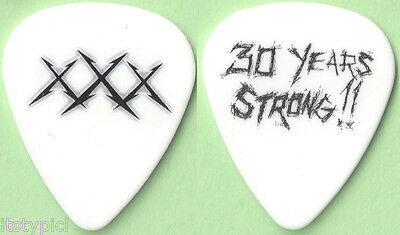 Metallica 2011 30 Years Strong Guitar Pick White