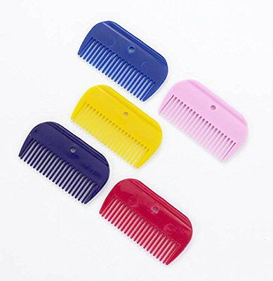 Lincoln Plastic Mane Comb - Blue - Horse Equestrian Mane & Tail Combs