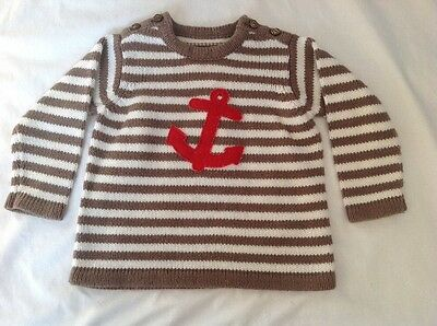 Baby Boden Mini Boden Boys Size 6/12 Months Sweater