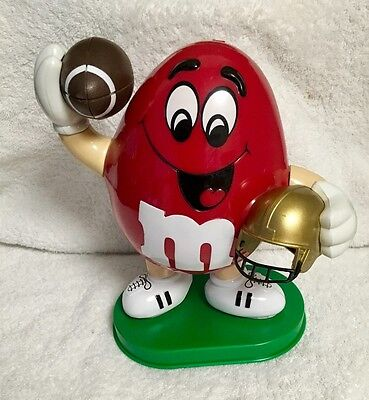Collectible 1995 M&M Red Peanut Football Player Candy Dispenser