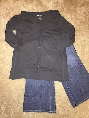 Maternity Outfit Pants Small Top Xs
