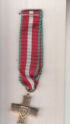 King George 1944 miniature medal silver colour metal.