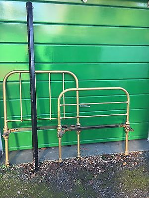 Edwardian / 1920 1930s Brass Single Bed Frame - Maple And Co