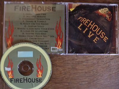cd Firehouse(hold your fire tour 92)SDB.live rare