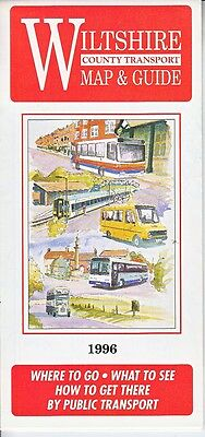 Original Wiltshire County Transport Map & Guide - 1996