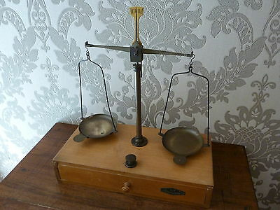 Vintage Meyla & Co Brass Scales With Weights
