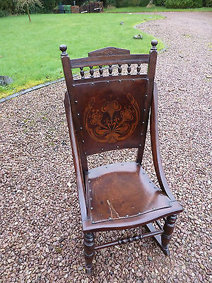 Antique Edwardian Bentwood Rocking Chair