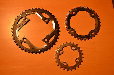 New Shimano Deore XT M780 triple Chainrings Chainring Rings 42/32/24 10s speed