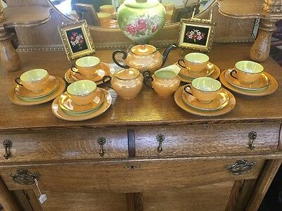 Beautiful Vintage Czechoslovakian Lusterware Tea Set