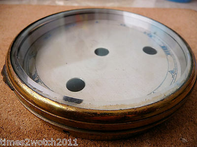 HEAVY DUTY SOLID BRASS BEZEL c/w DIAL FACE + 105mm BEVEL GLASS LENS - SEE 7 PICS