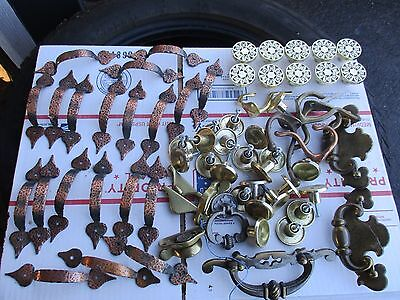 LARGE VINTAGE  LOT OF CABINET HANDLES AND KNOBS - Preowned