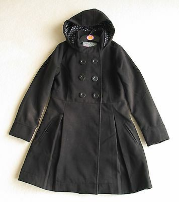 Girls black hooded winter coat Age 12-13 from Debenhams