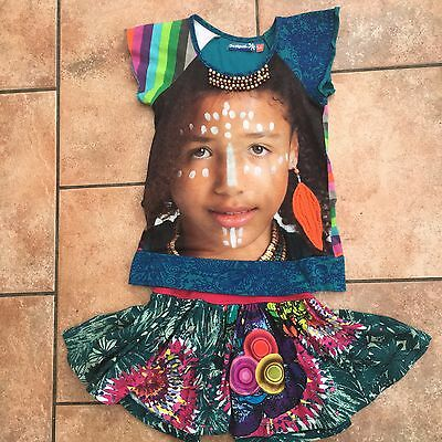 Desigual Girls Skirt And Top Age 5/6 Years