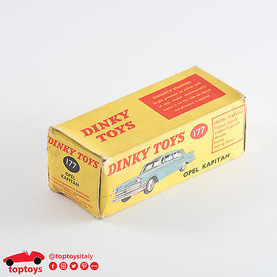 Dinky Toys 177 Opel Kapitan Empty Box Only 1:43 Made in England