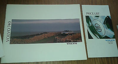 1990 Volvo 740 series Sales Brochure and price list