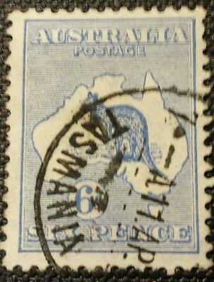 Australia Stamps. Roo's Stamps 6D Blue
