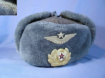 Vintage Russian Soviet Military Winter Hat