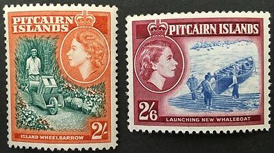 PITCAIRN ISLAND. 1957-1963. QE2. Fine Mint Key Value Stamps. SG 27 and 28a