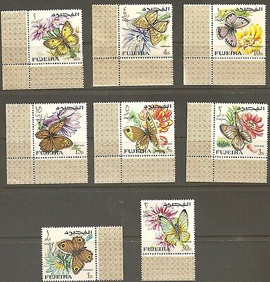 Fujeira set of Butterflies Stamps. MLH.