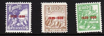 Lundy 1939 10th Anniversary Part Set MM
