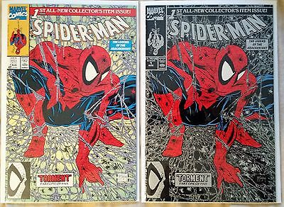 Spider-Man #1 Silver and Regular cover NM Todd McFarlane 1990