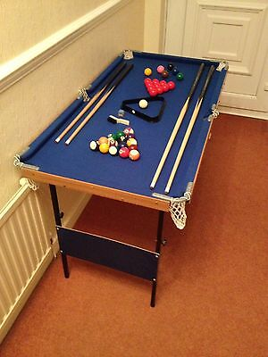 Children's Snooker and Pool Table
