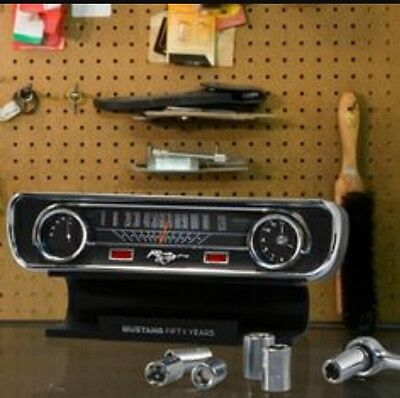 Ford Mustang Desk Clock Thermometer W/Sound NIB 50th Anniversary Great Gift!