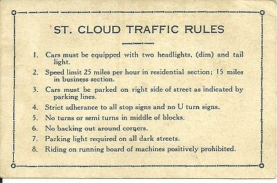 St. Cloud Florida Traffic Rules Police Department  Vintage Old