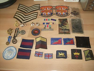 army patches and other bits.