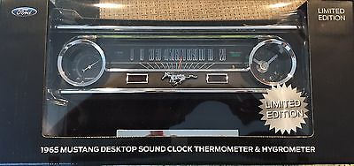 Ford Mustang Desk Clock Thermometer W/Sound NIB 50th Anniversary Great Gift