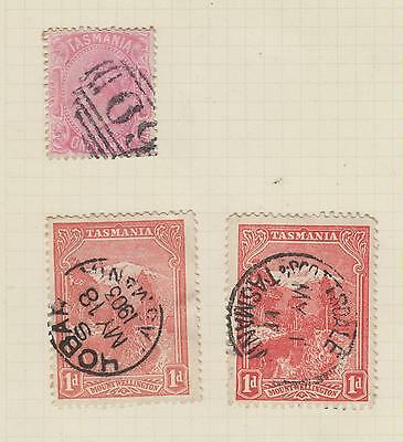 Ls97   Extremely Early  Used Stamps From Tasmania On Album Page (Victoria)