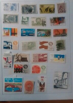 Mexico Stamps, 3 pages from a collection