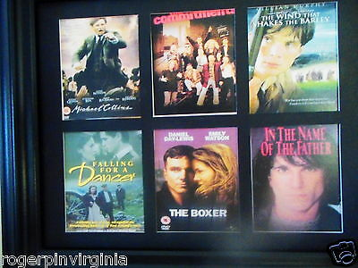 IRISH MOVIE POSTERS (12  MINIATURE reproduction trade cards  in TWO Frame)