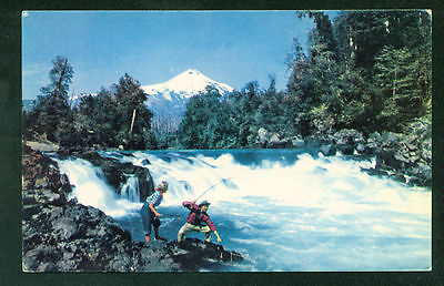 Chile Pan American World Airways Airlines Postcard Trancura River South America