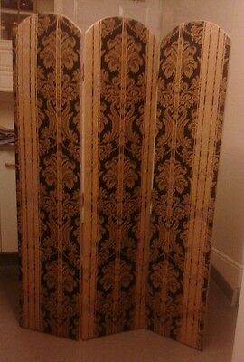 Vintage Fabric folding screen room divider Partition