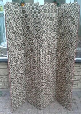 Vintage Fabric Room Divider Screen Partition