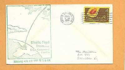 Missile Fired From Cape Canaveral Pershing Aug 23,1961 Patrick Afb